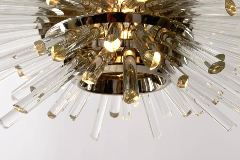 Late 20th Century Bakalowits Sputnik Chandelier 'Miracle', Nickel Glass Rods, 1970 For Sale