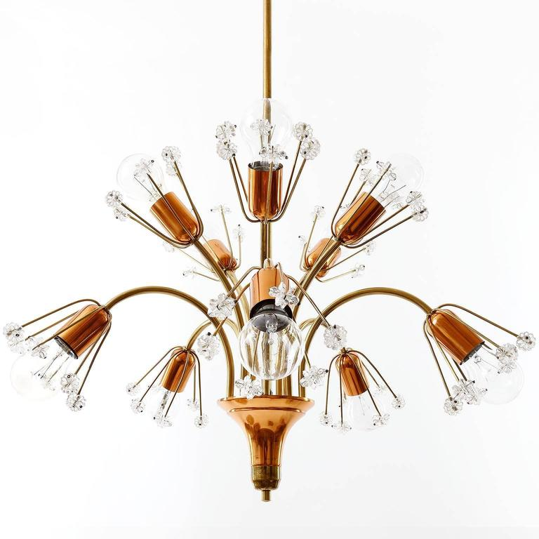 Brass Copper Wall Lights : Emil Stejnar Wall Lights Sconces, Rupert Nikoll, Glass Brass Copper, 1950s For Sale at 1stdibs