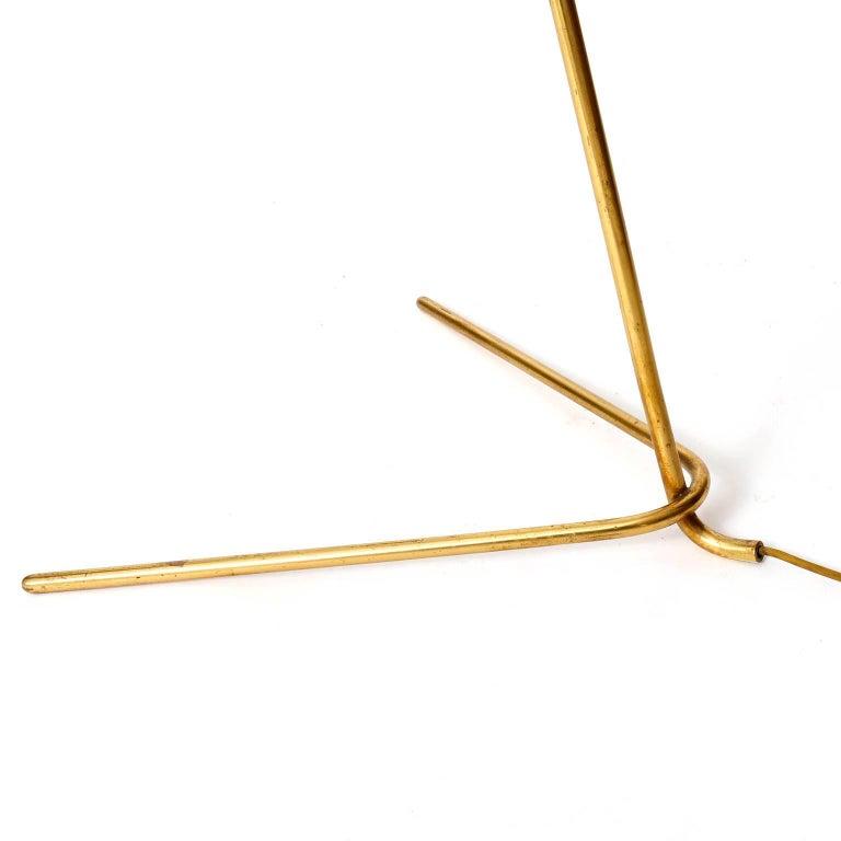 Mid-20th Century Two Kalmar Brass Floor Lamps 'Rabbit' no. 2084, 1953 For Sale
