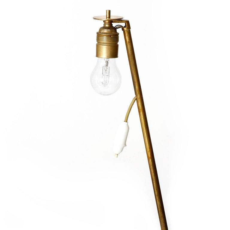 Two Kalmar Brass Floor Lamps 'Rabbit' no. 2084, 1953 For Sale 1