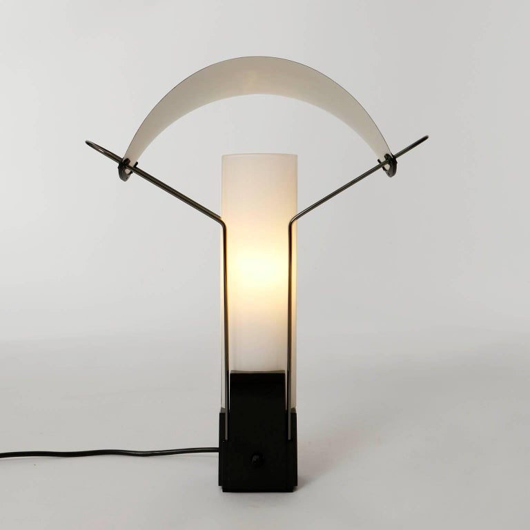 Late 20th Century Table Lamp 'Palio' by Arteluce, Copper Opal Glass, Italy, 1985 For Sale
