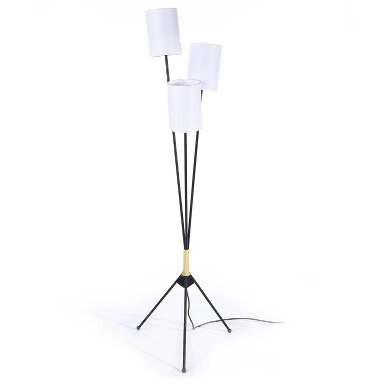 Mid-Century Modern Tripod Floor Lamp, 1950s For Sale