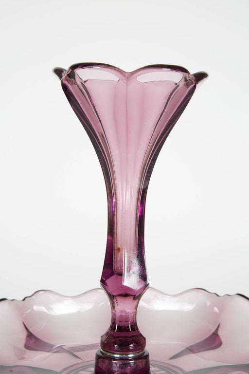 Antique amethyst blown glass centerpiece for sale at stdibs