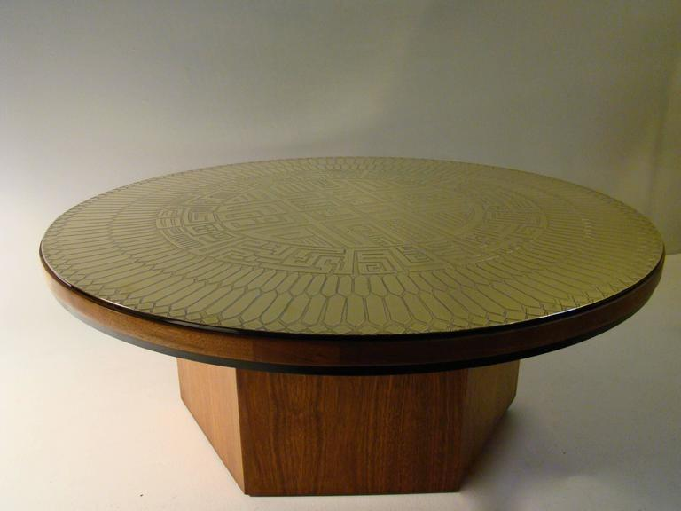 Custom Polished Metal Walnut Coffee Table By Fred Kemp Saturday Sale At 1stdibs