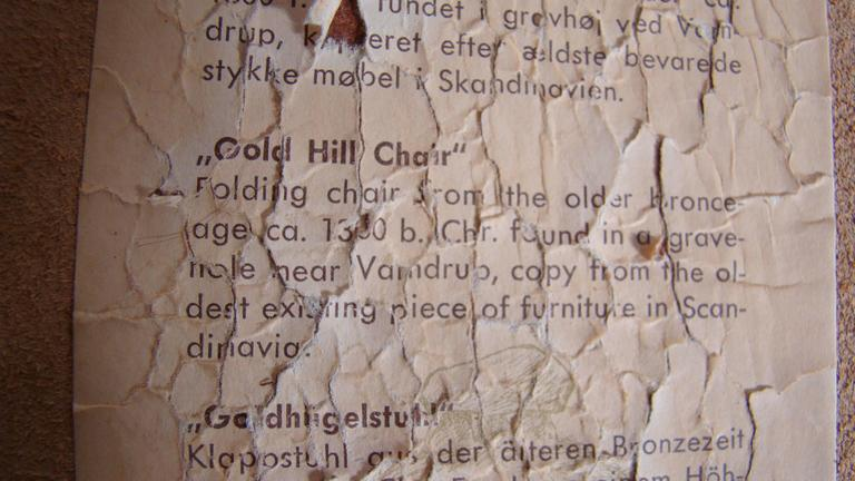 Poul Hundevad Teak Leather Gold Hill Stool  SATURDAY SALE 6