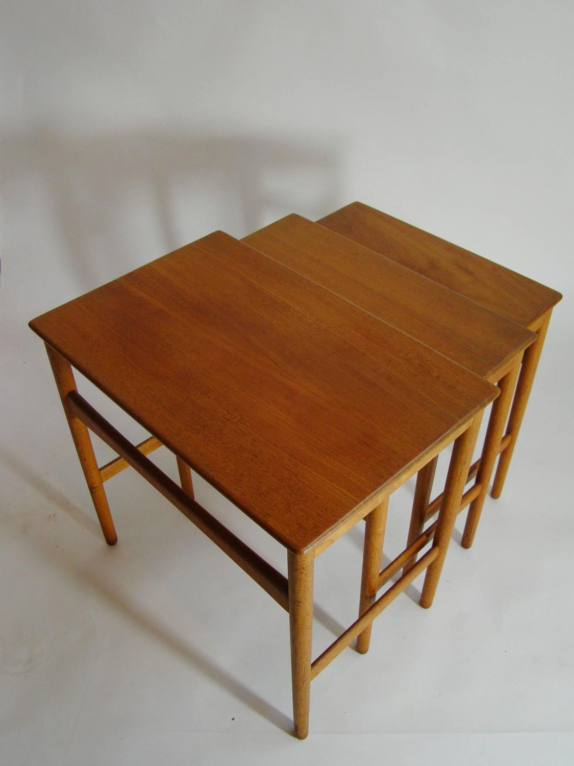 Hans wegner for andreas tuck teak nesting tables at 1stdibs Andreas furniture
