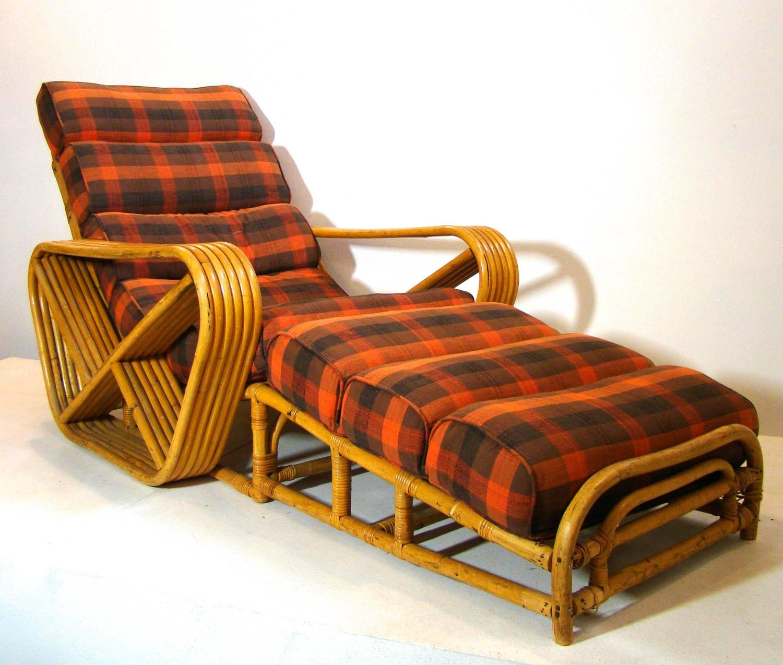 Paul frankl style living room suite of pretzel rattan - Rattan living room furniture for sale ...