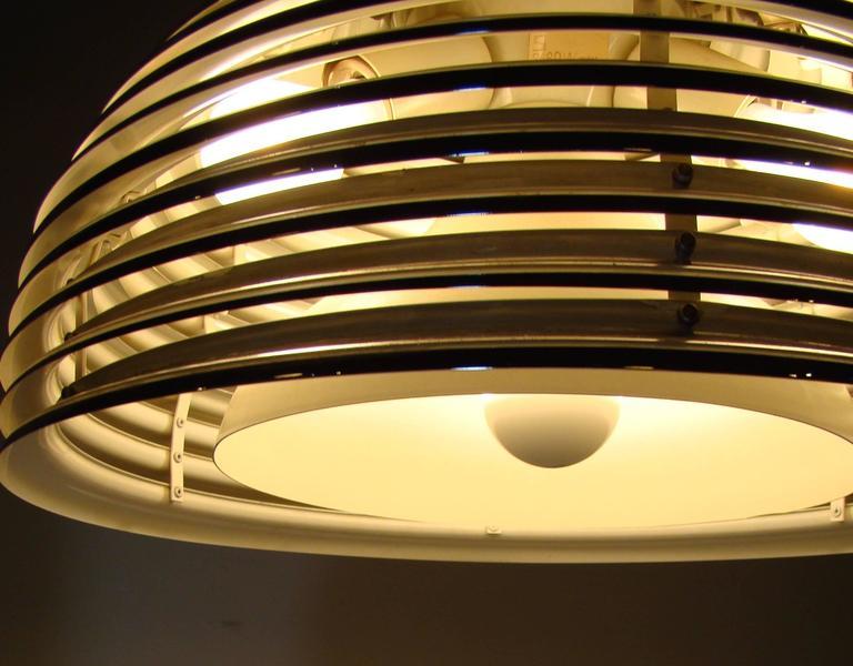 Modernist Chrome Beehive Pendant Lamp 4