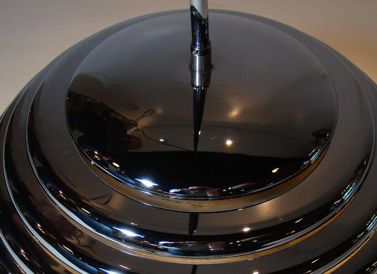 Modernist Chrome Beehive Pendant Lamp 6