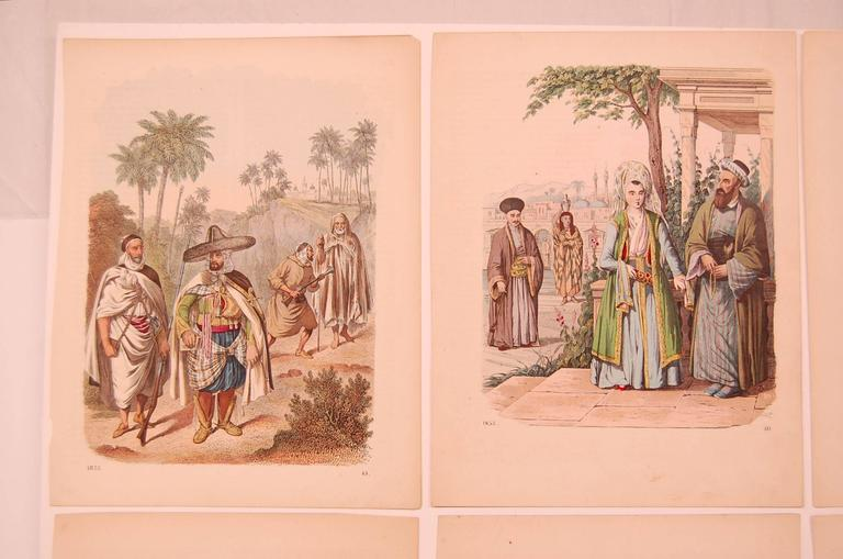 Early Victorian Set of Eight 19th Century Prints of Middle Eastern Interest For Sale
