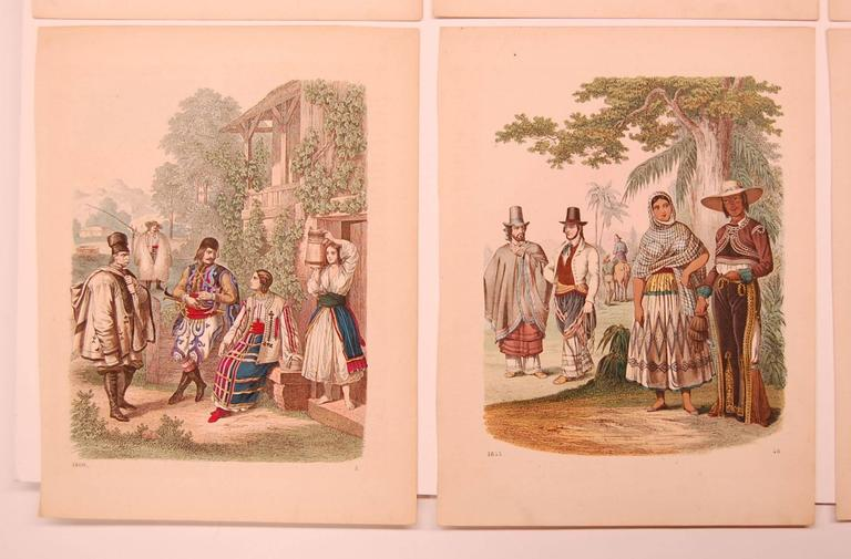 Italian Set of Eight 19th Century Prints of Middle Eastern Interest For Sale