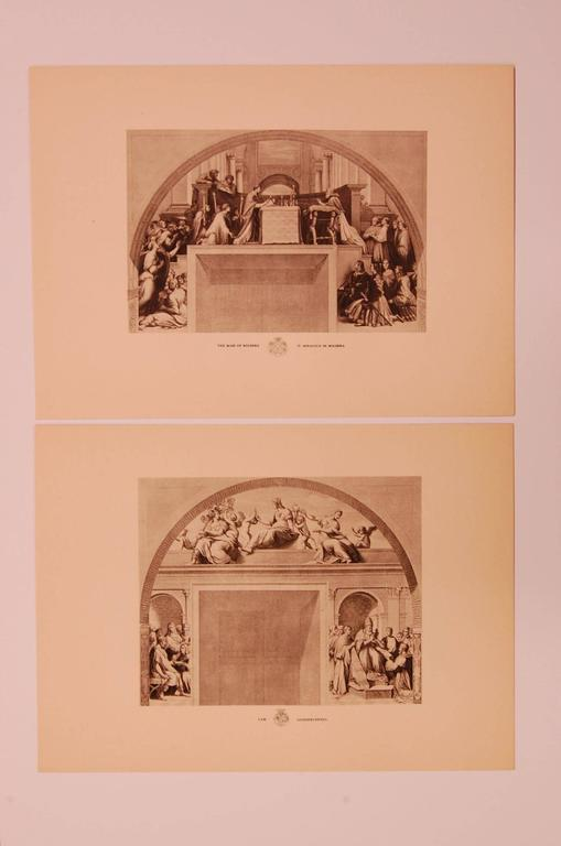 Classical Roman Set of Eight 20th Century Prints Depicting Ancient Roman Events For Sale