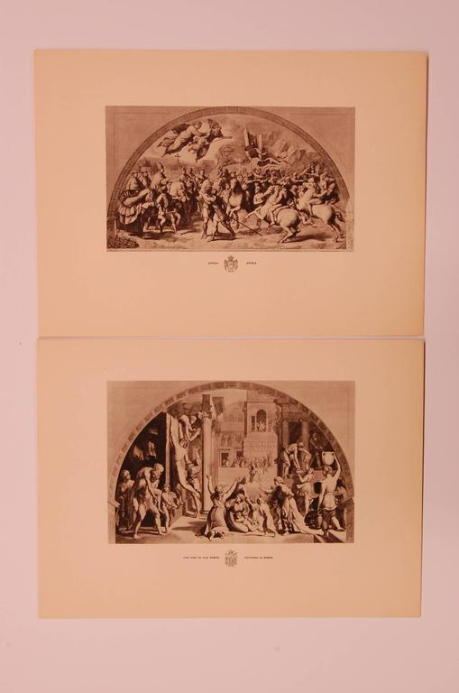 Unknown Set of Eight 20th Century Prints Depicting Ancient Roman Events For Sale
