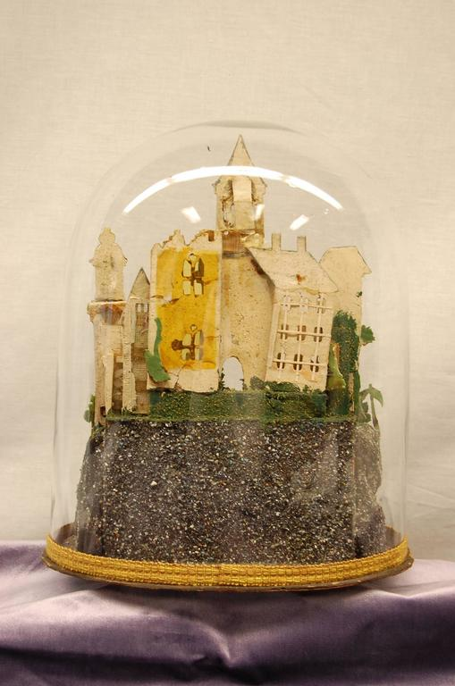 George III Early 19th Century Composition Diorama under Original Glass Dome For Sale
