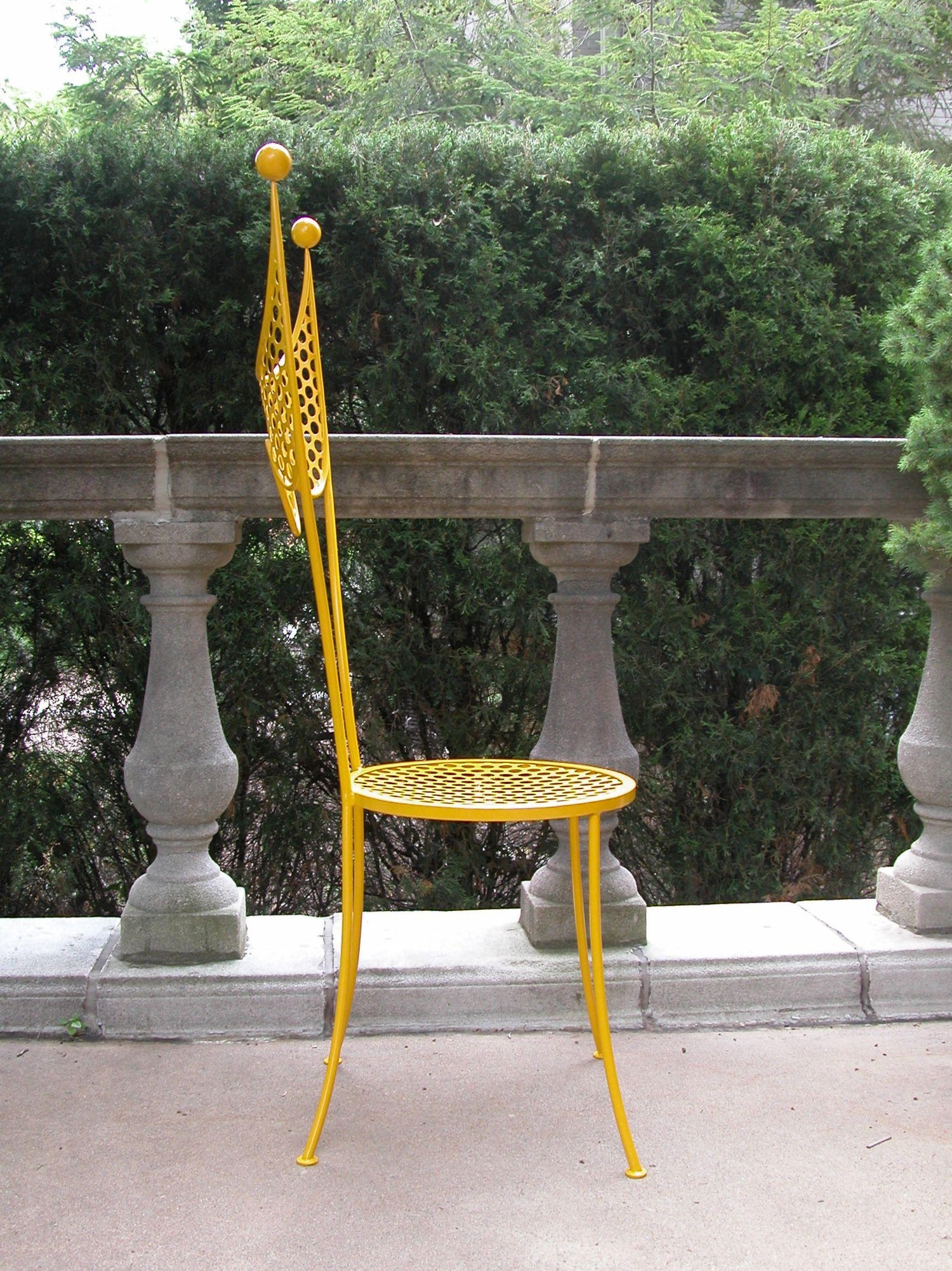 Steel Side Chair Attributed to Tony Duquette circa 1950 For Sale at