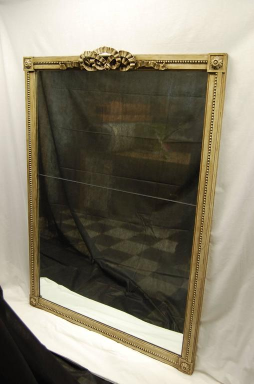 19th Century French Carved Mirror in Original Polychromed Finish 4