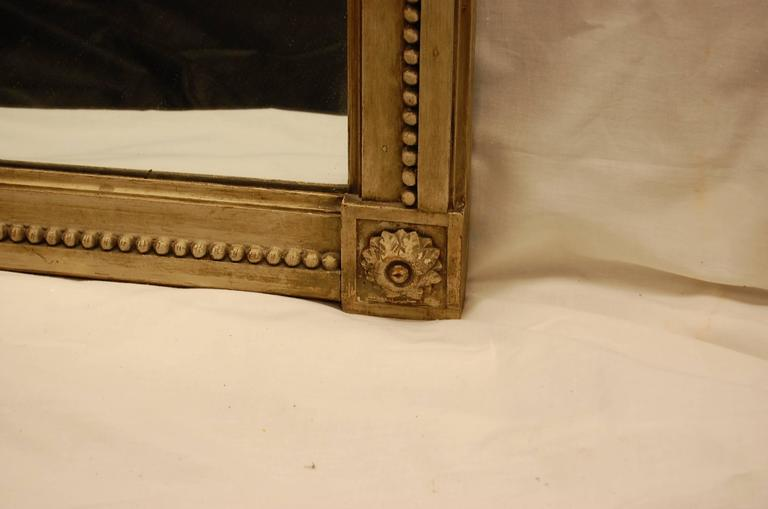 19th Century French Carved Mirror in Original Polychromed Finish 5