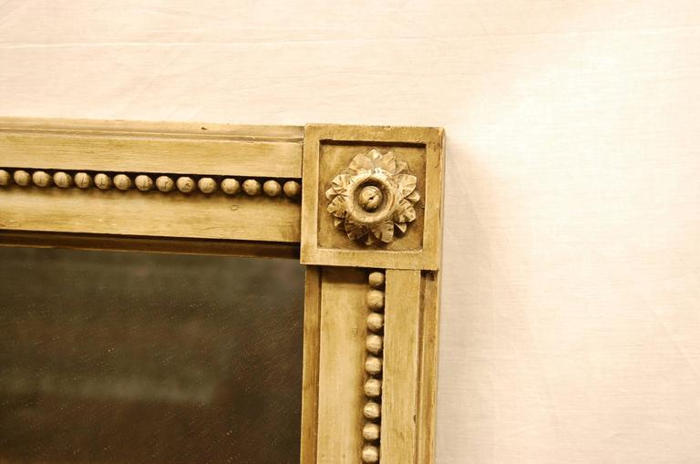 19th Century French Carved Mirror in Original Polychromed Finish 6