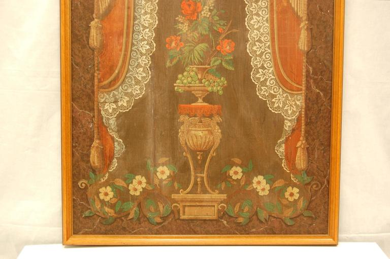 This framed section of wallpaper was what was commonly referred to as