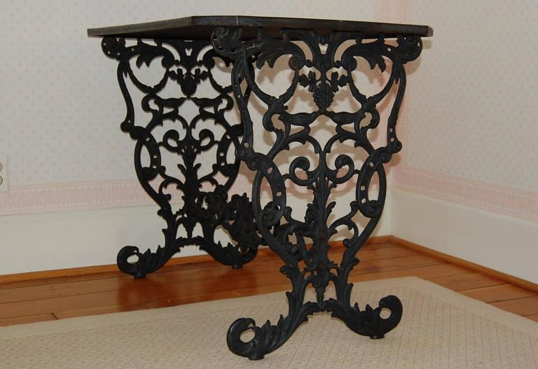 Cast Iron Table w/ Original Iron Top in the Style of Coalbrookdale, late 19th C. For Sale 1