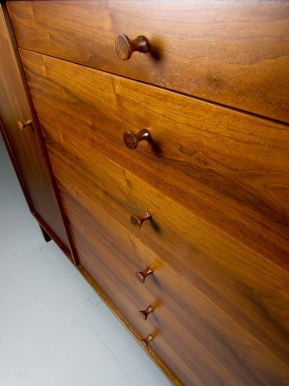 Tall Walnut Gentlemen S Chest Dresser By Kipp Stewart For