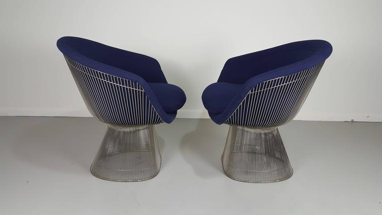 Pair Of Sculptural Lounge Chairs By Warren Platner For