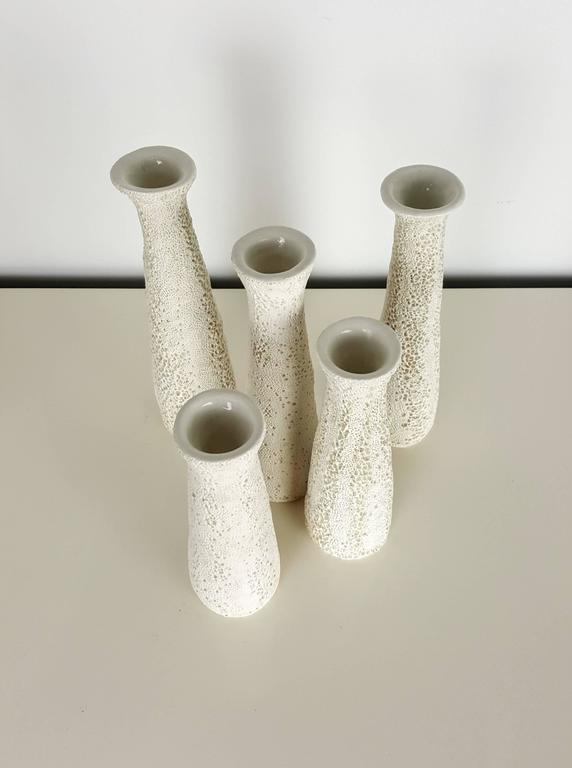 Grouping of Candlesticks with Organic Coral Texture by Judi Tavill, 2016 5