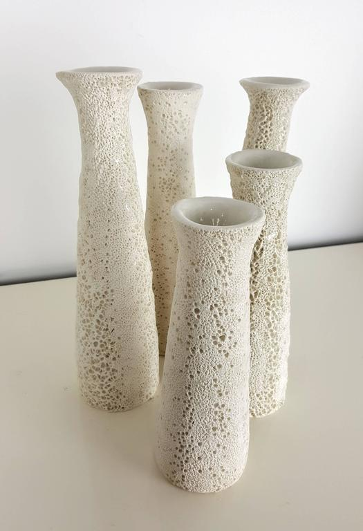 Grouping of Candlesticks with Organic Coral Texture by Judi Tavill, 2016 3