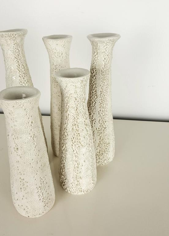 Grouping of Candlesticks with Organic Coral Texture by Judi Tavill, 2016 2