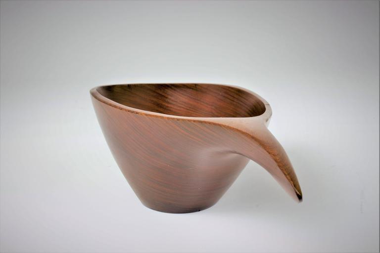Emil Milan Handmade Decorative Nut Bowl in Lapacho Wood, 1970s 4