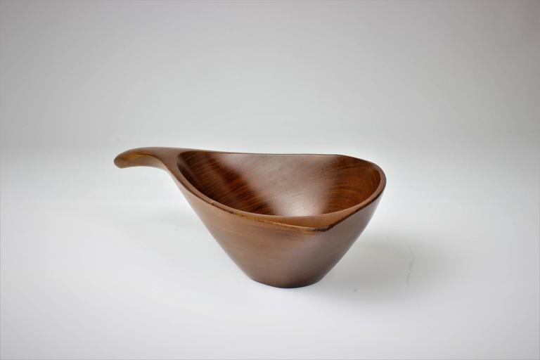 Emil Milan Handmade Decorative Nut Bowl in Lapacho Wood, 1970s 6