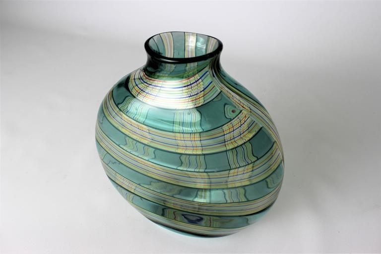 Blown Glass Ribbon Vase by Robin Mix for Tiffany & Co. 3