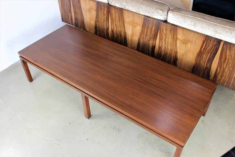Mid Century Modern Large Mahogany Harvey Probber Coffee Table 1960s For