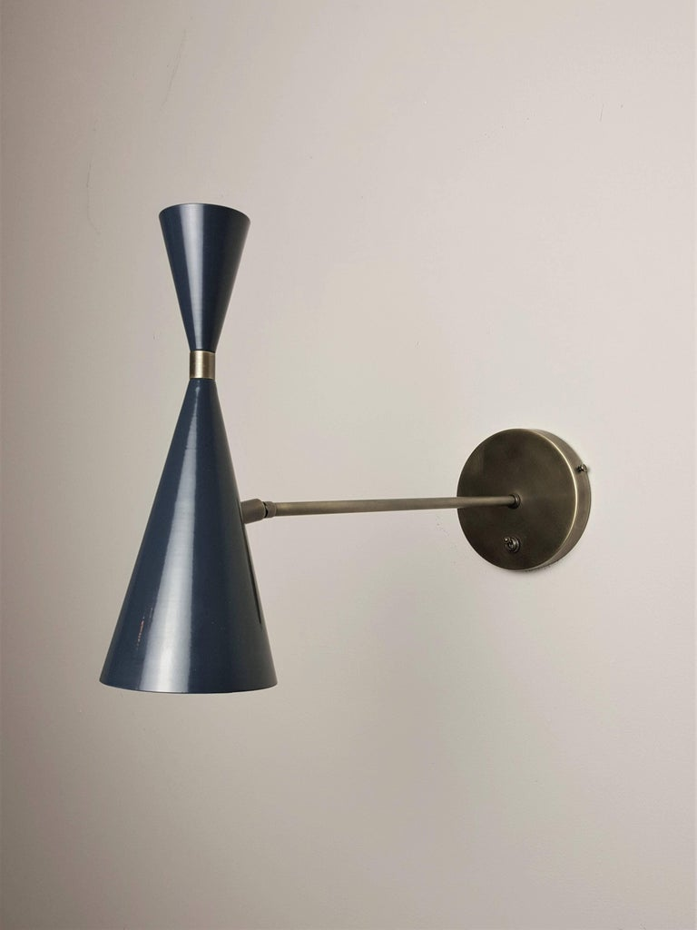 Italian Modern Wall-Mount Sconces in Bronze and Enamel by Studio Machina, 2017 For Sale at 1stdibs