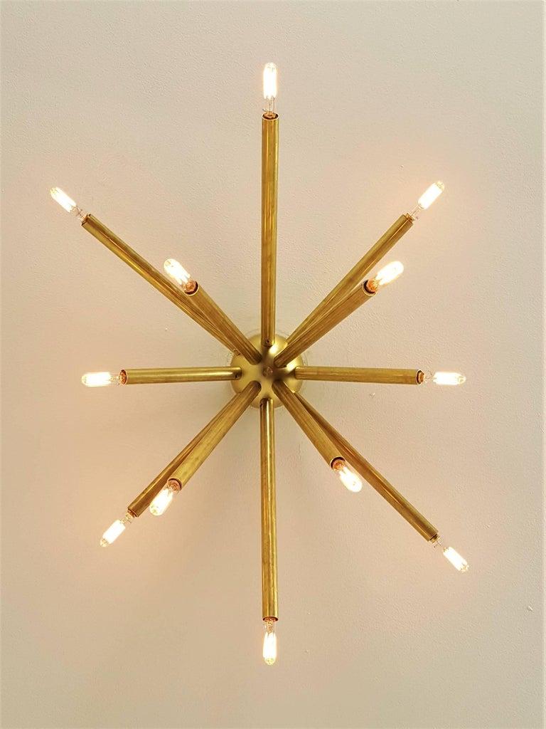 glam lighting. Mid-Century Modern Model 130 Glam Handmade Brass Flush Mount Light Fixture,  Blueprint Lighting Glam Lighting