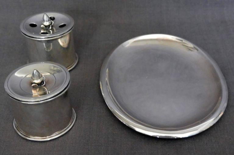 18th Century Italian Empire Silver Inkstand For Sale