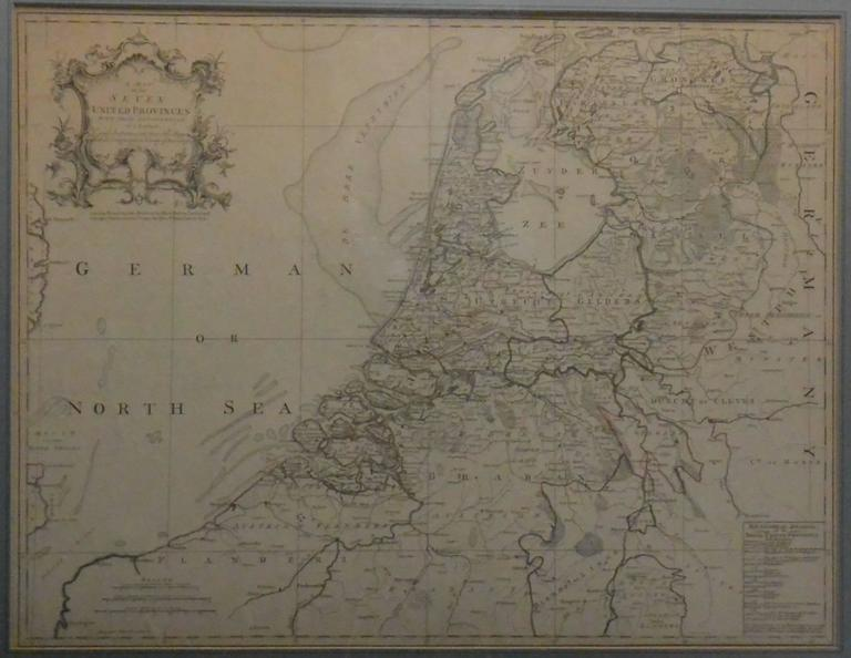 Map of the Netherlands For Sale at