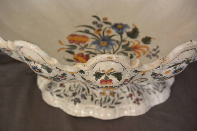 Very Large Bassano Floral Centerpiece Bowl 2