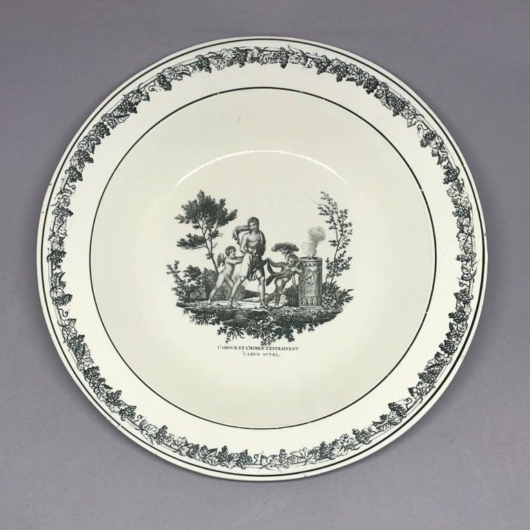 Neoclassical Creil Creamware Plates For Sale