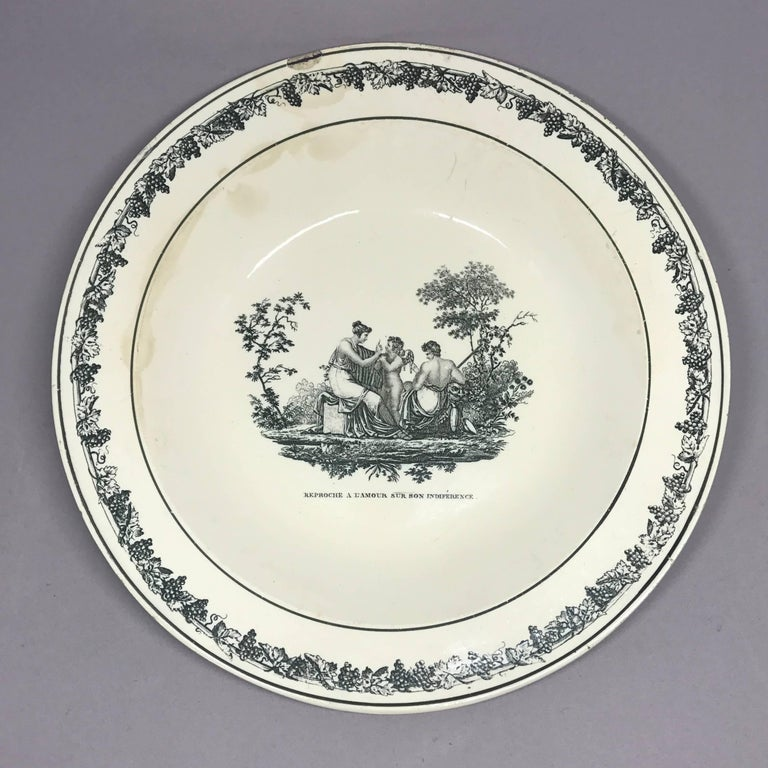 Creil Creamware Plates For Sale 3