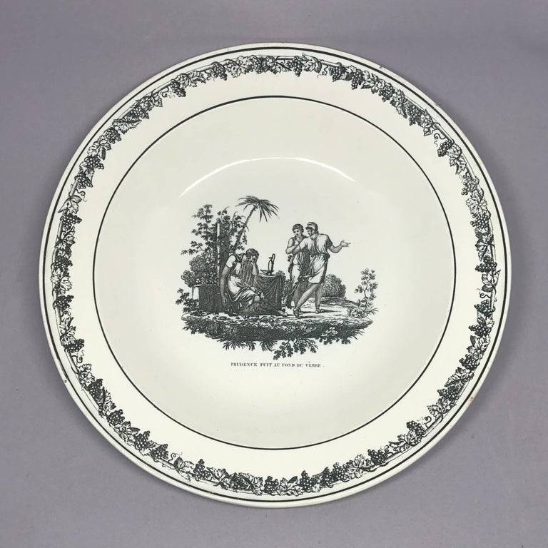Creil Creamware Plates In Good Condition For Sale In New York, NY