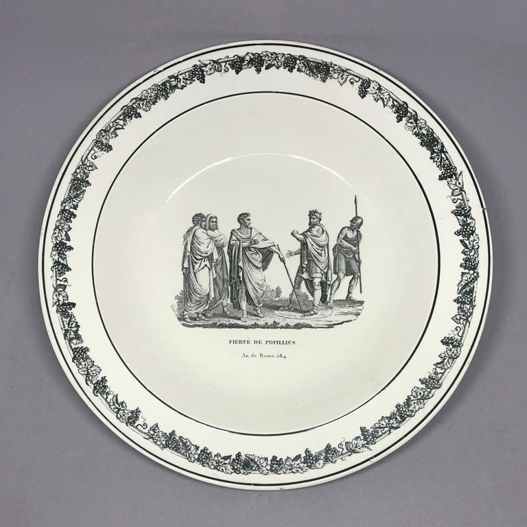 French Creil Creamware Plates For Sale