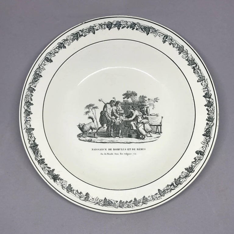 19th Century Creil Creamware Plates For Sale