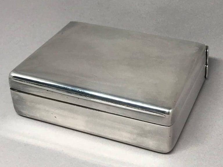 American Silver Cigarette Box