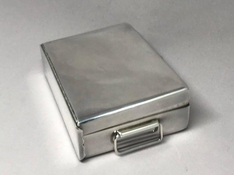 Mid-Century Modern Silver Cigarette Box