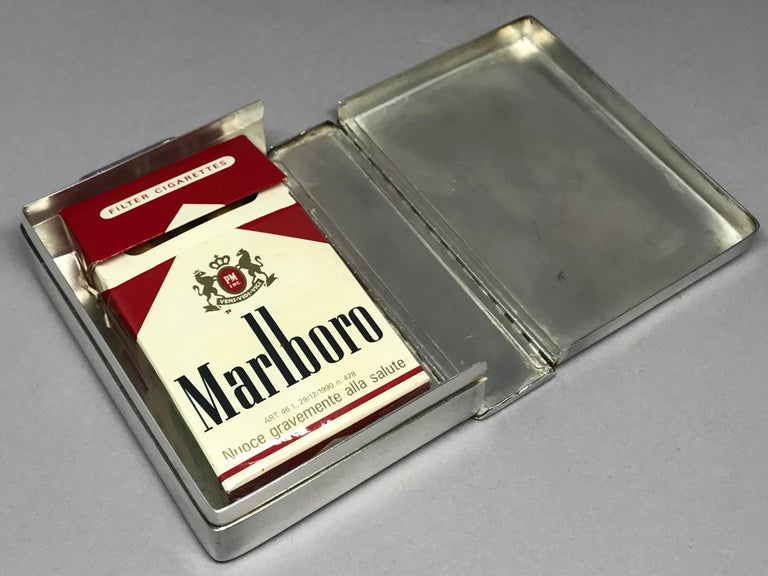 Silver Cigarette Box In Good Condition In New York, NY