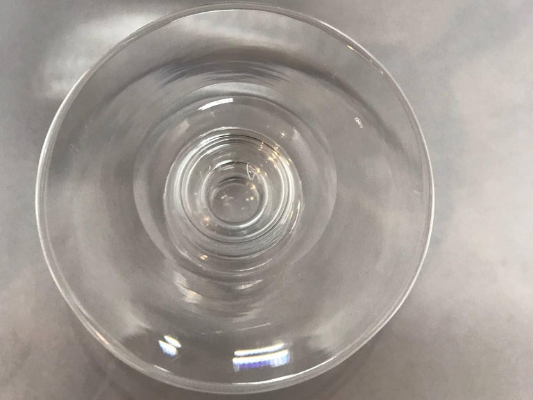 Vintage Etched Crystal Steuben Champagne Coupe In Excellent Condition For Sale In New York, NY
