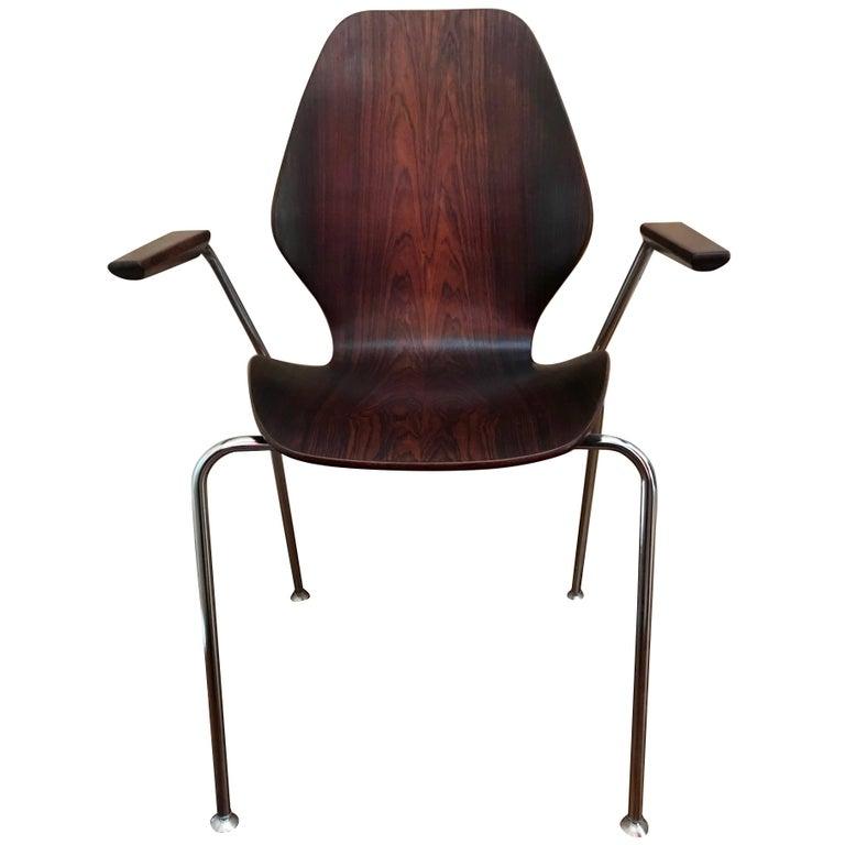 Mid-Century Dänische Rosenholz Stühle 1