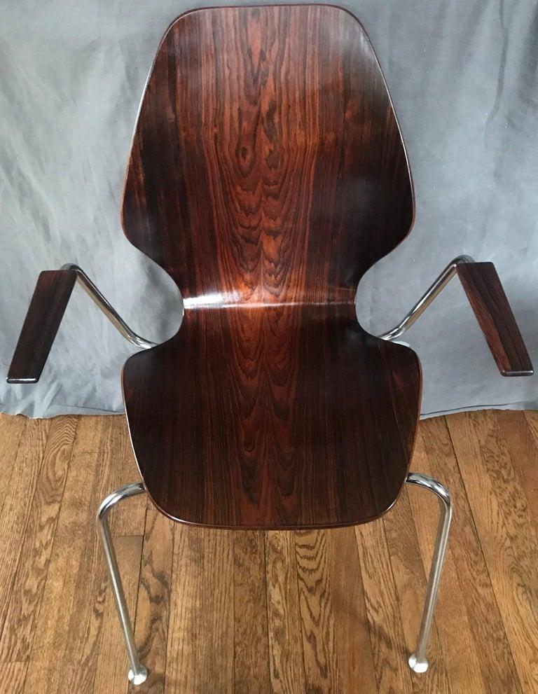 Mid-Century Dänische Rosenholz Stühle 3