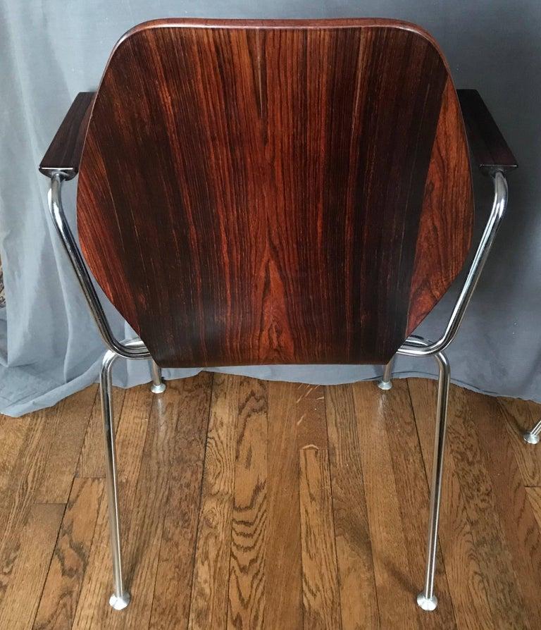 Mid-Century Dänische Rosenholz Stühle 7